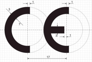 Graphical guide of drawing of the CE marking